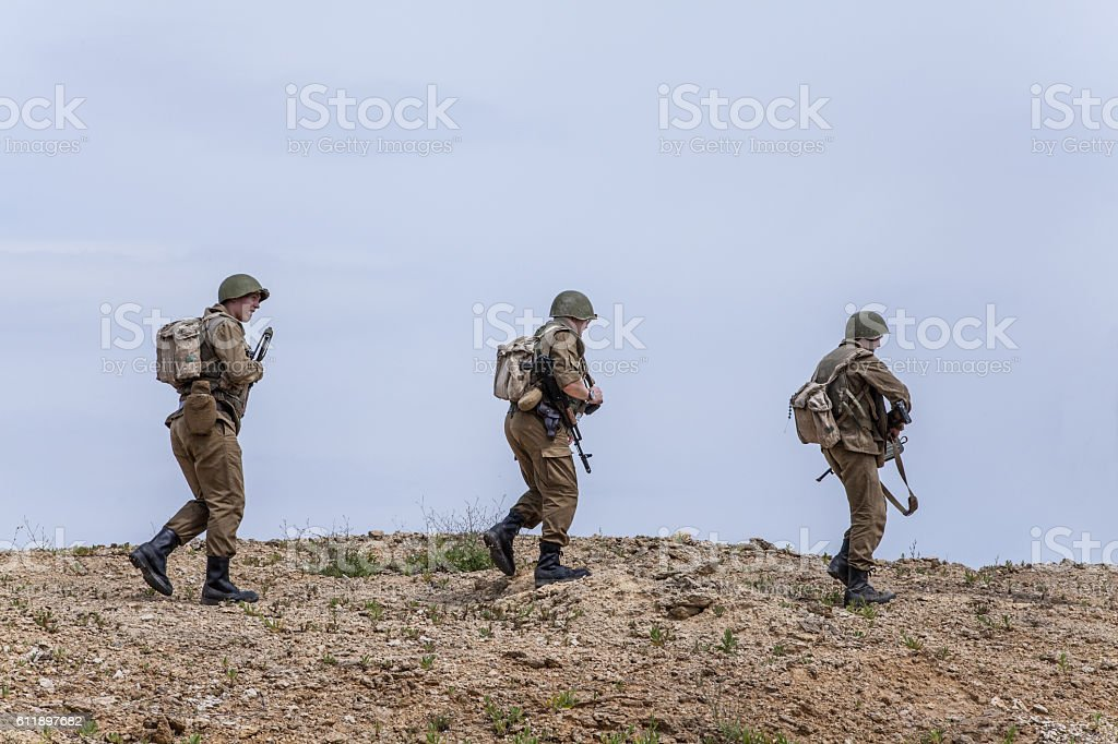 Soviet Spetsnaz in Afghanistan stock photo