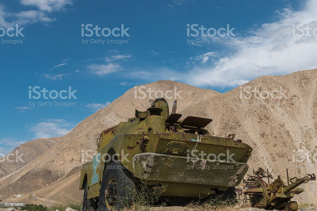 soviet tank - afghanistan stock photo