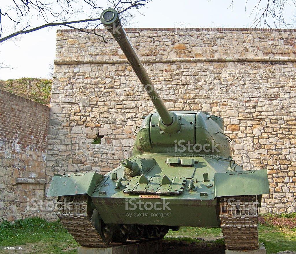 T34 Soviet tank stock photo