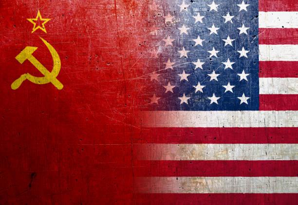 Soviet Union Grunge Flag Textured Background Wallpaper