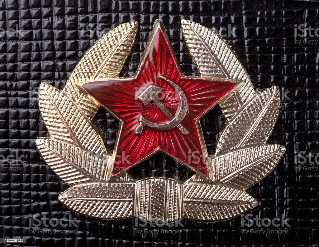 Soviet Union badge stock photo