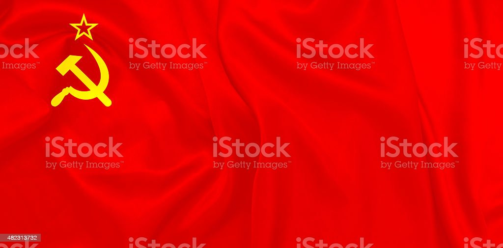 Soviet Union flag Also known as The red banner stock photo