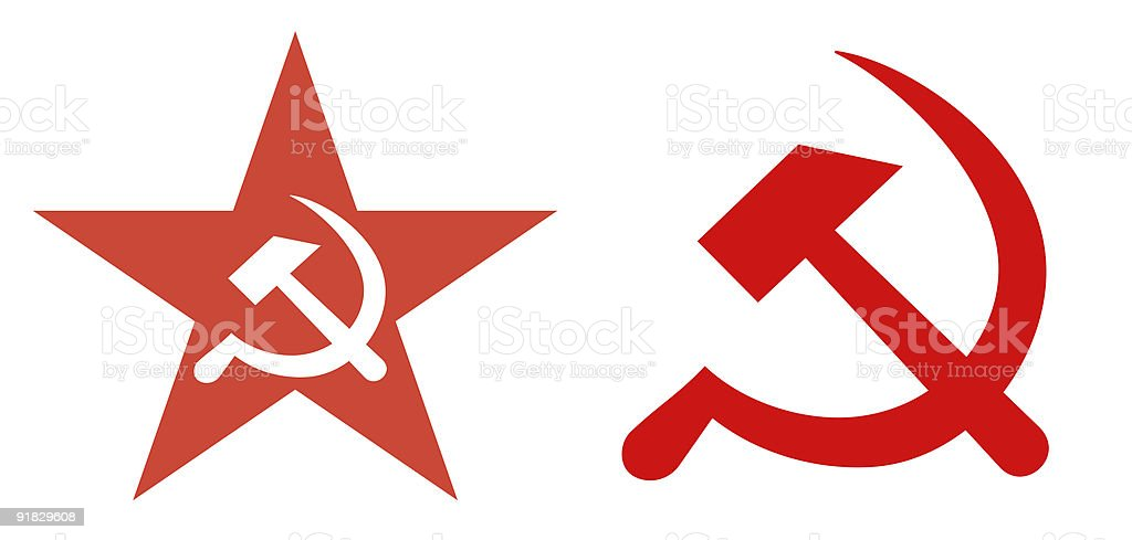 Soviet Union political symbols stock photo