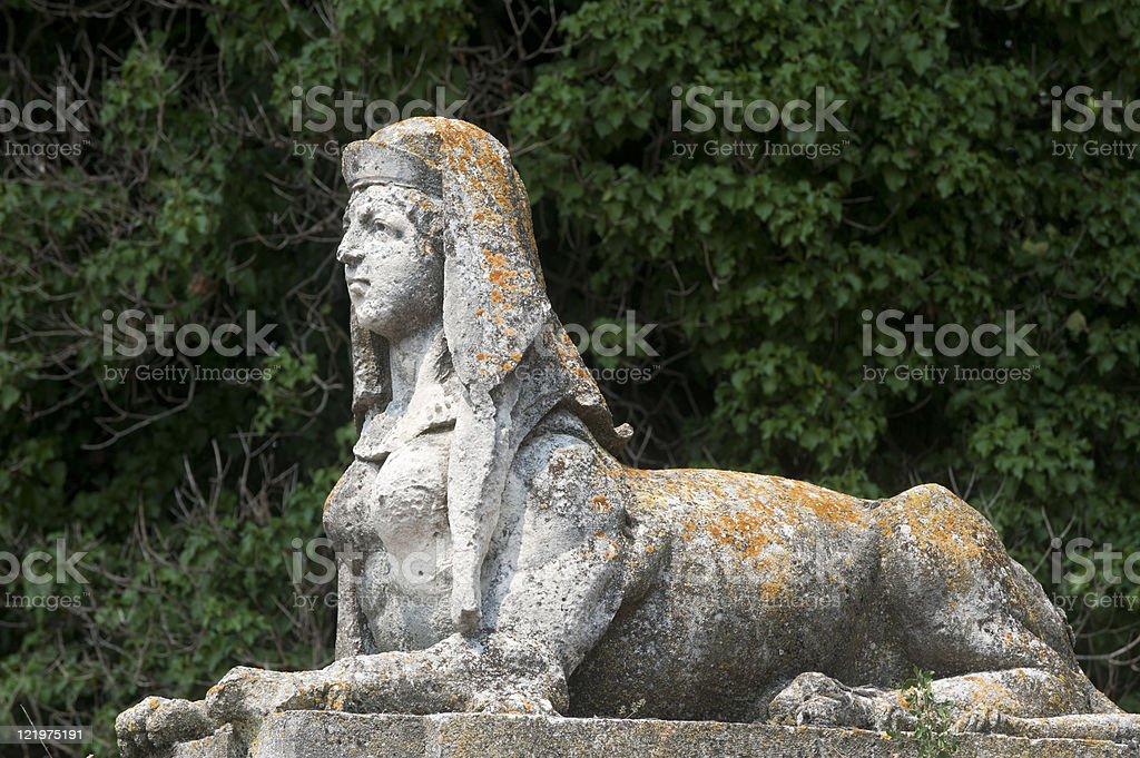 Sovizzo (Vicenza, Veneto, Italy), Villa Curti: ancient statue stock photo