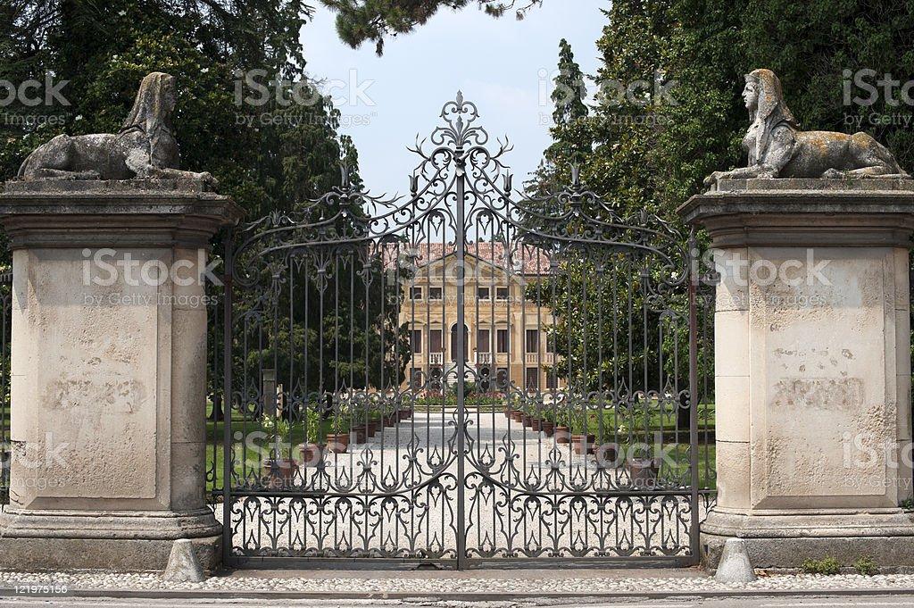 Sovizzo (Vicenza, Veneto, Italy), Villa Curti and the english garden stock photo
