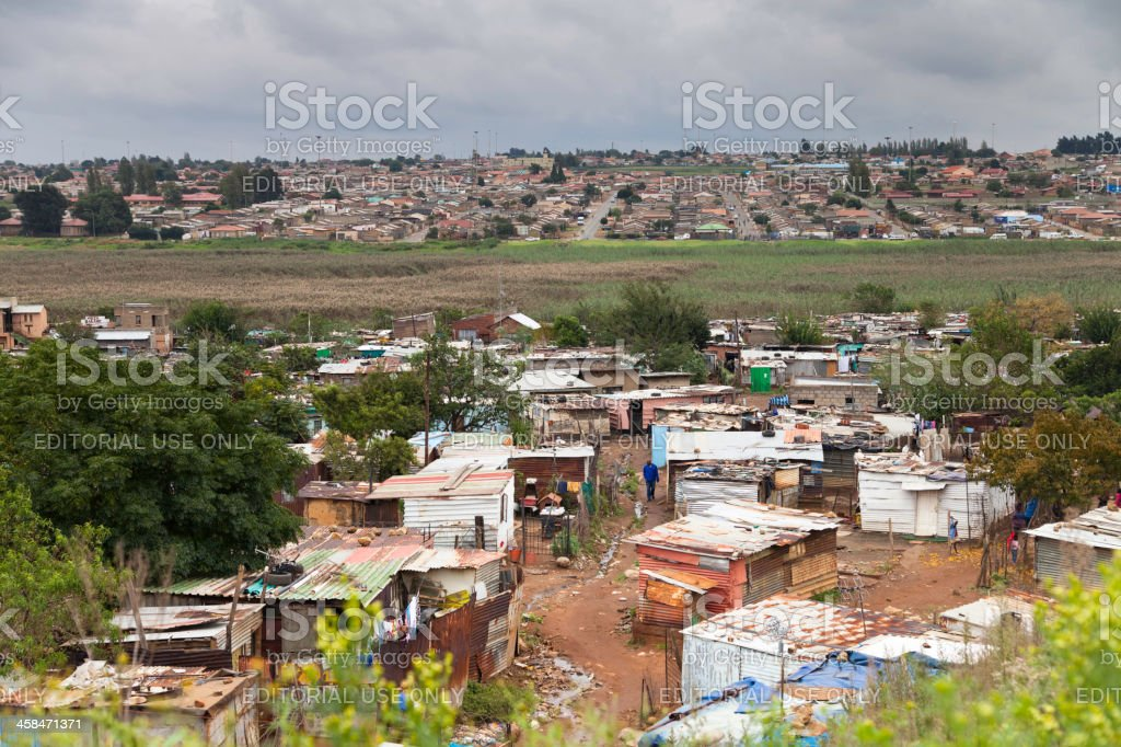 Soweto Squatters Village stock photo