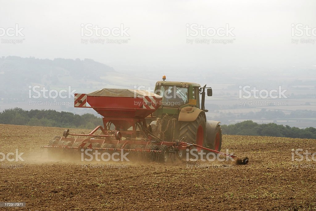 Sowing the Seed, Bredon Hill royalty-free stock photo