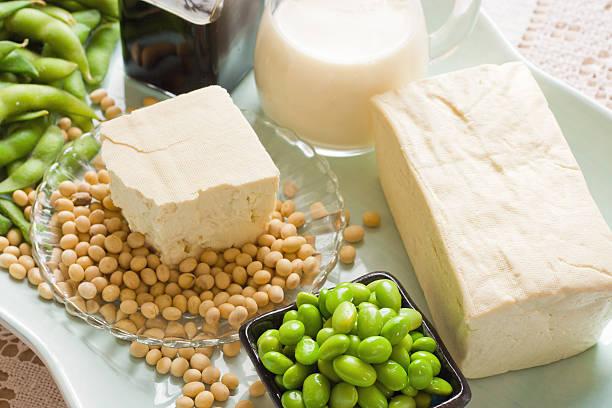 soja napojach i artykułach spożywczych zdjęcie z wielu elementów - białko zdjęcia i obrazy z banku zdjęć