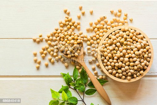 istock Soy been  on white table,healthy concept. 686845418