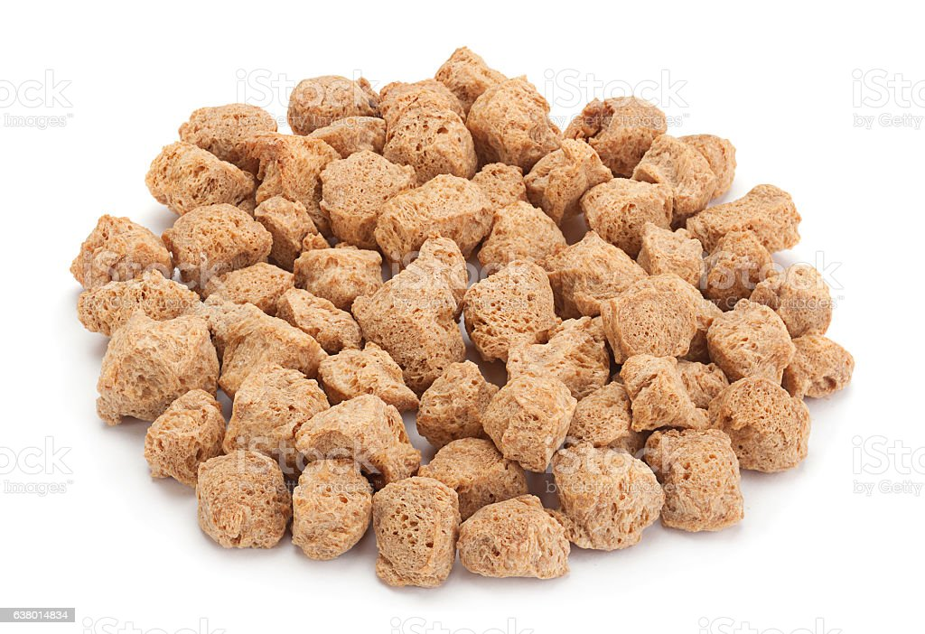 Soy dry cubes stock photo