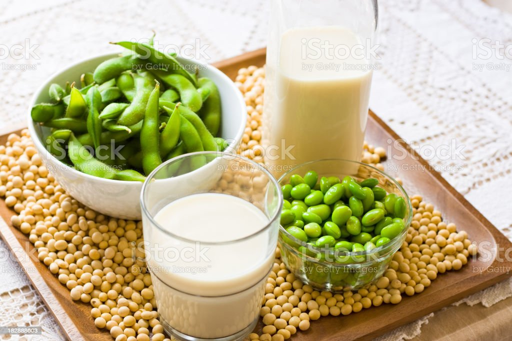 Soy Milk and Soybean Products royalty-free stock photo