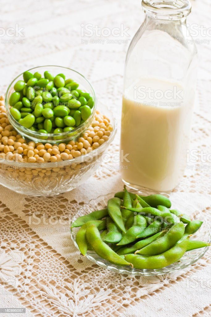 Soy Milk and Soybean Products stock photo