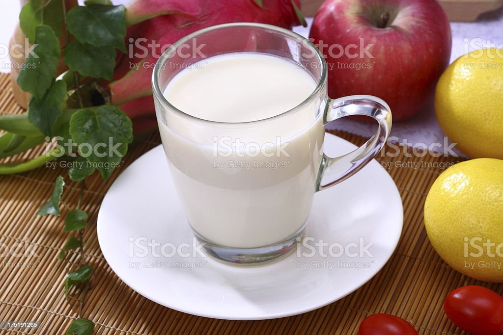 soy milk royalty-free stock photo