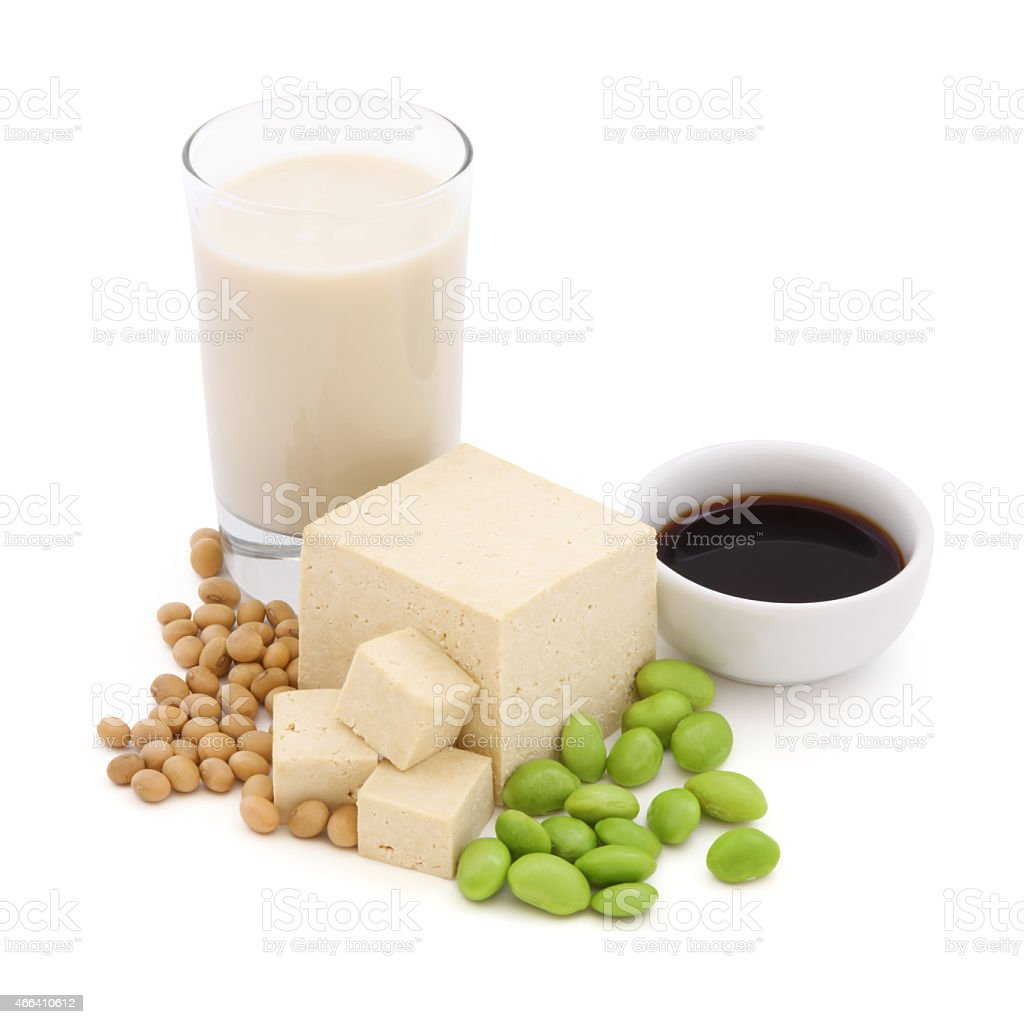 Soy Products Concept stock photo