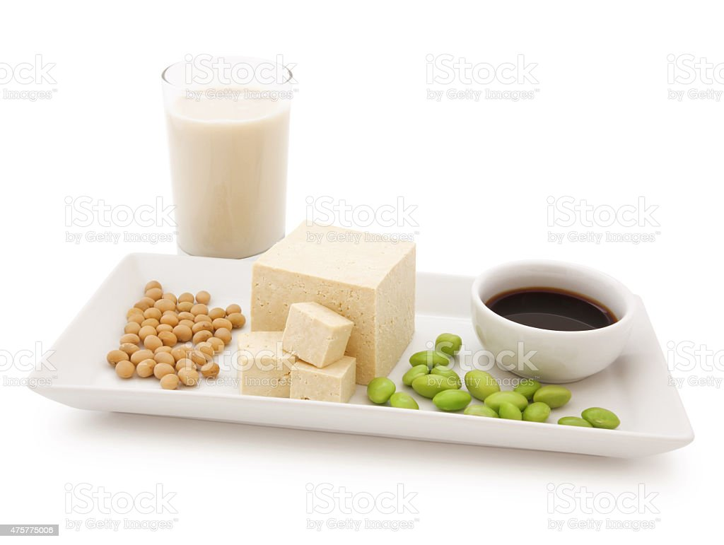 Soy Products Concept (with path) stock photo