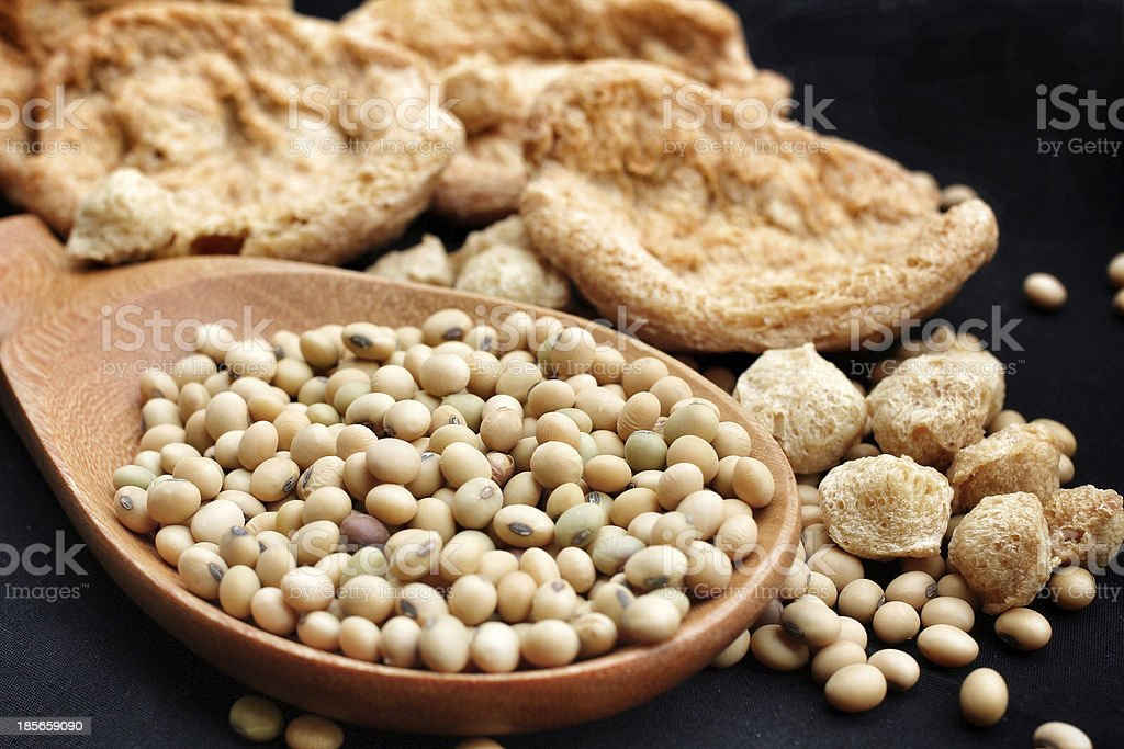 Soy protein stock photo