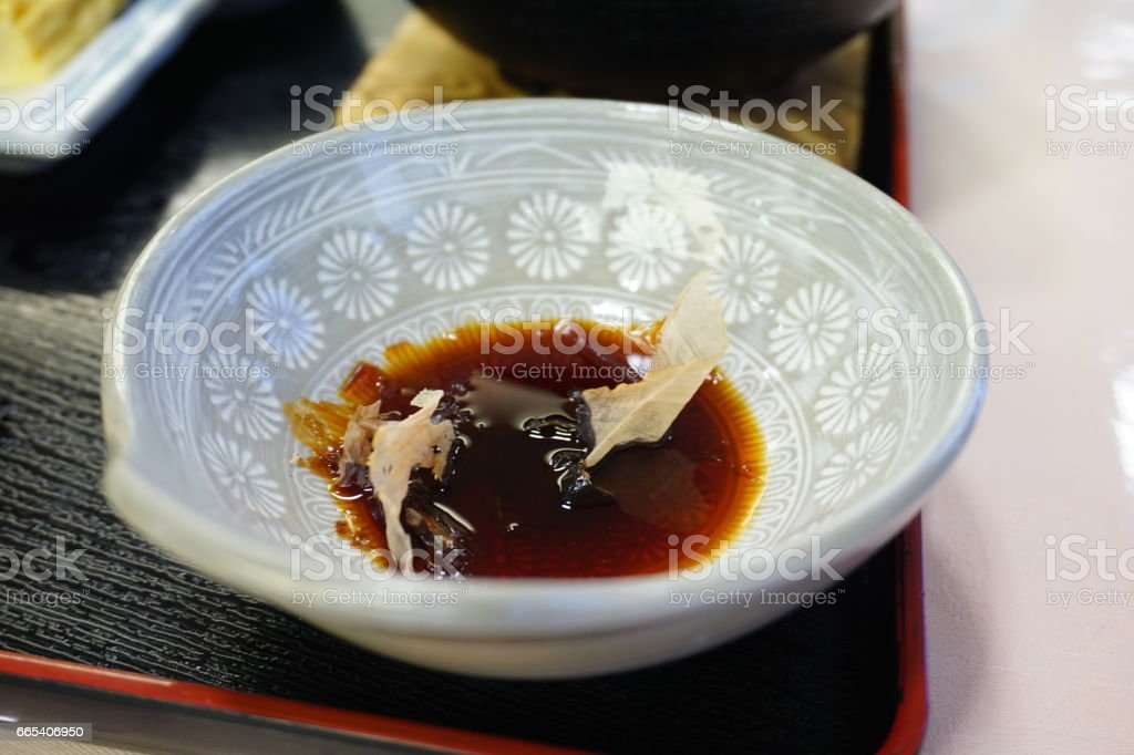 Soy Sauce & Chopsticks stock photo
