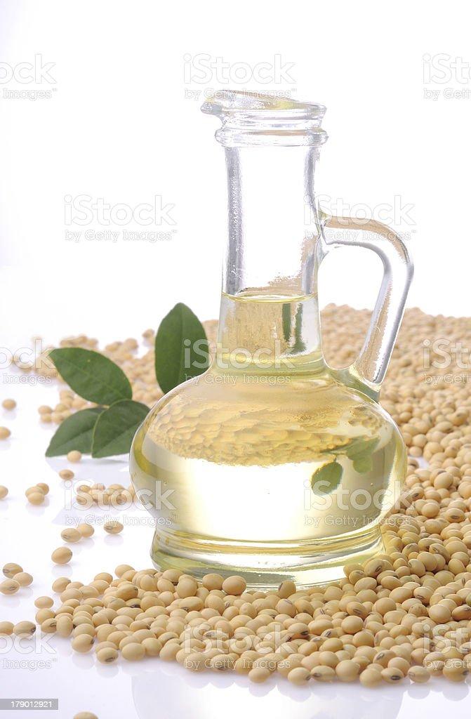 soya bean oil stock photo
