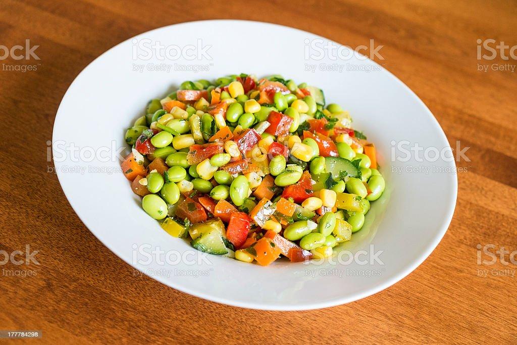 Soybean Salad stock photo