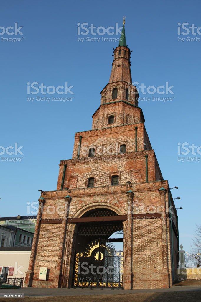 Soyembika Tower in Kazan Kremlin. Russian federation. Tatar republic royalty-free stock photo