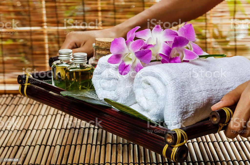 spa and massage treatment stock photo