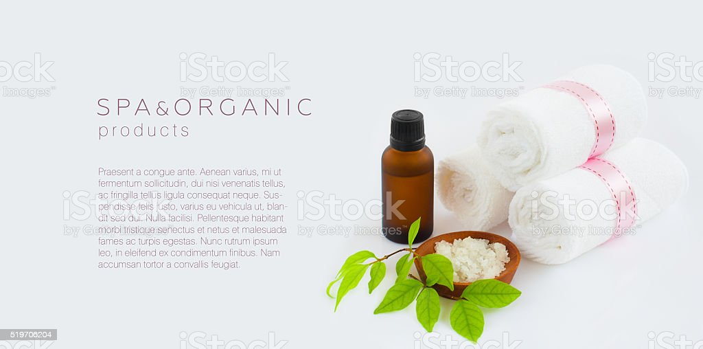 Spa and organic products background stock photo