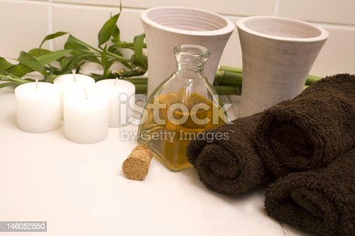 1175869940 istock photo Spa / aroma therapy treatment - relax with candles 146052550