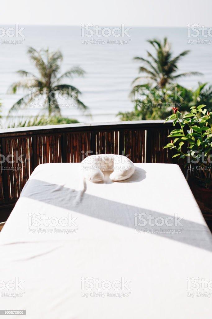 Wellness in een resort aan het strand - Royalty-free Aromatherapie Stockfoto