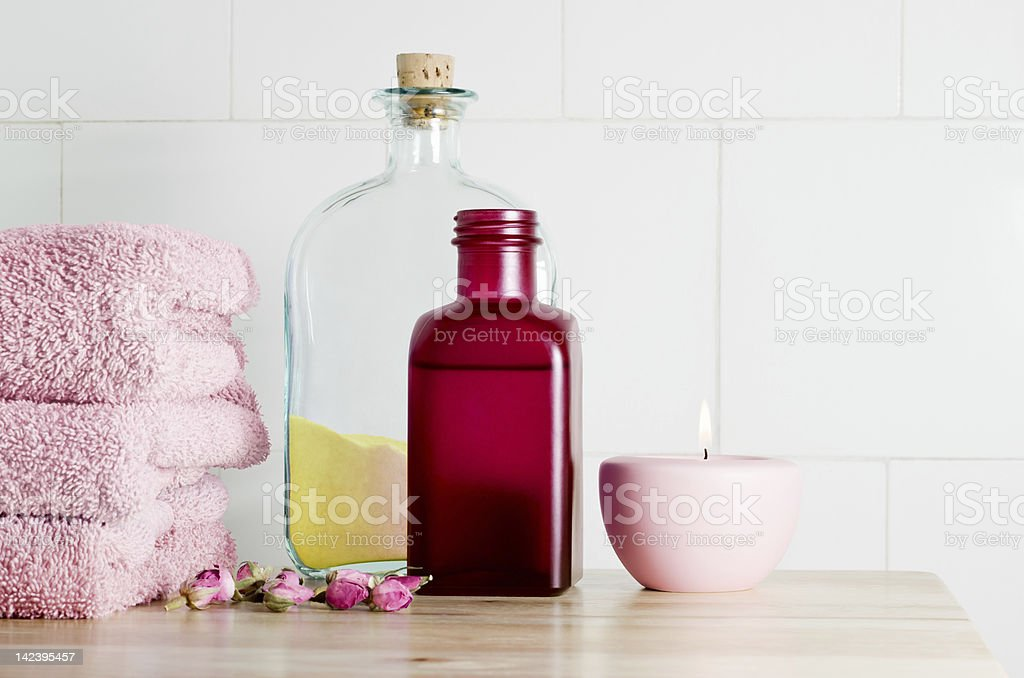 Spa Bath Items stock photo
