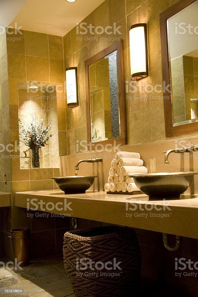 Spa Bathroom Vertical stock photo