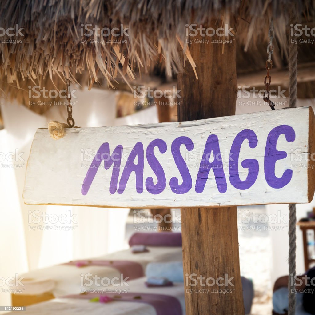 Spa bodycare on vacation stock photo