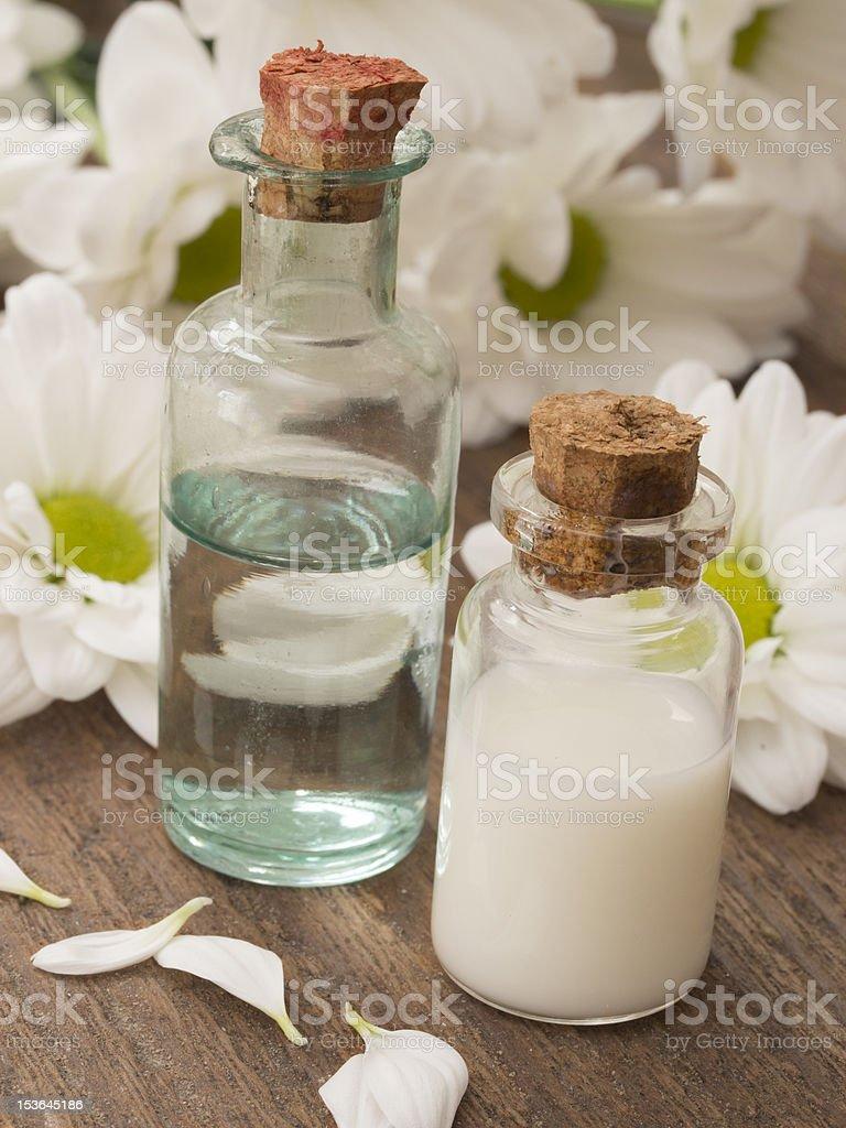 spa bottles royalty-free stock photo
