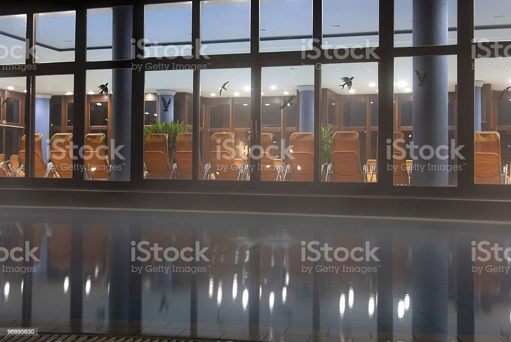 Spa by night royalty-free stock photo