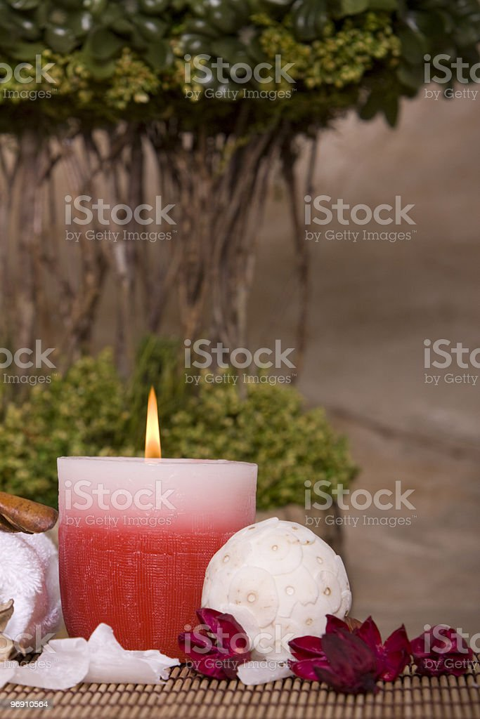 Spa candle royalty-free stock photo