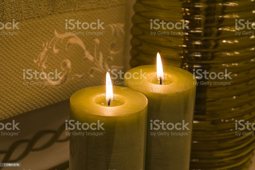 Spa Candles royalty-free stock photo