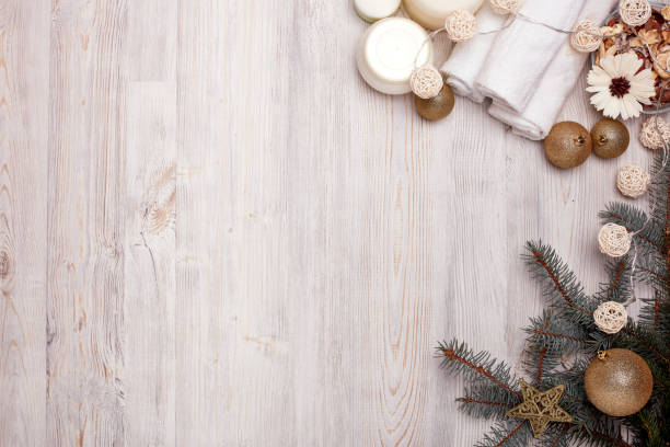 Spa.  Christmas and New Year background stock photo