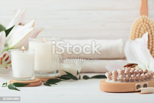 istock spa composition on white wooden background 503894980