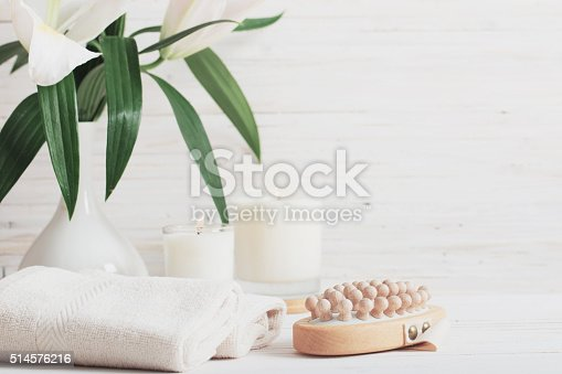 istock spa composition on white wooden background 514576216