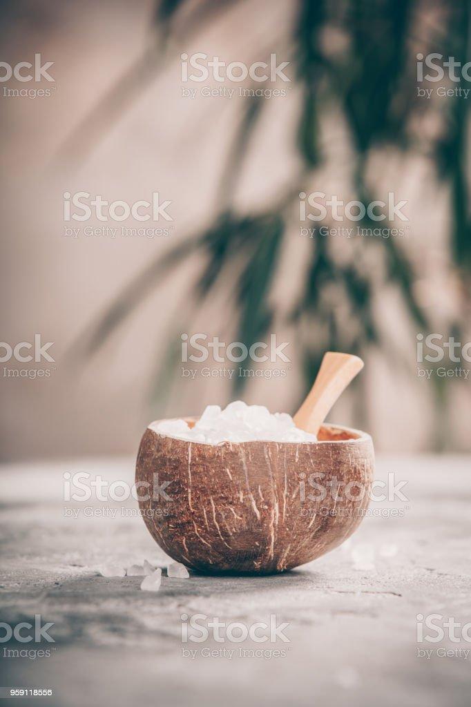 Spa composition with Sea Salt stock photo