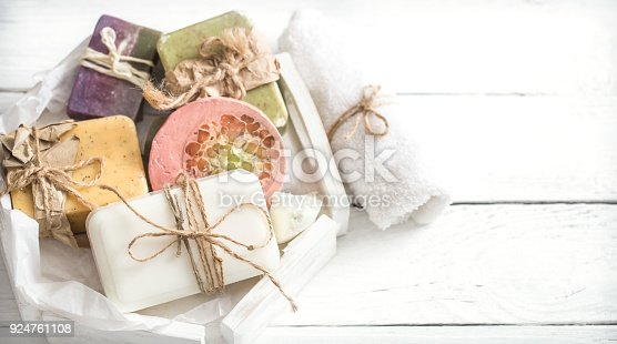 istock spa composition with soap 924761108