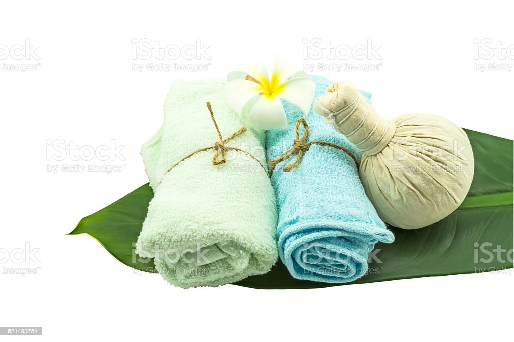 Spa concept  on white background.Saved with clipping path Lizenzfreies stock-foto