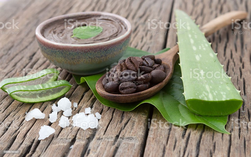 Spa concept on wood background, Amazing Benefits of Aloe Vera – Foto