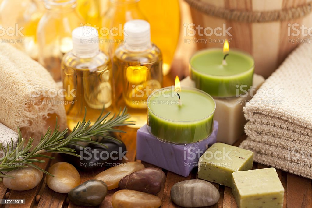 Spa concept with orchid - Royalty-free Aromatherapy Stock Photo