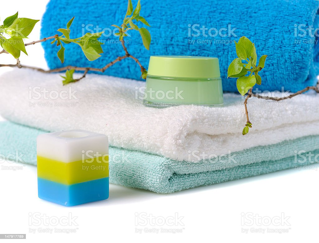 spa concept with young twigs royalty-free stock photo