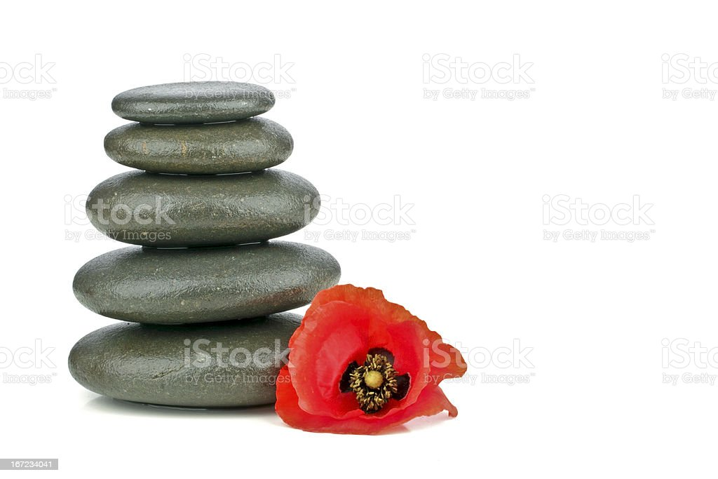 Spa concept with zen stones and flower royalty-free stock photo