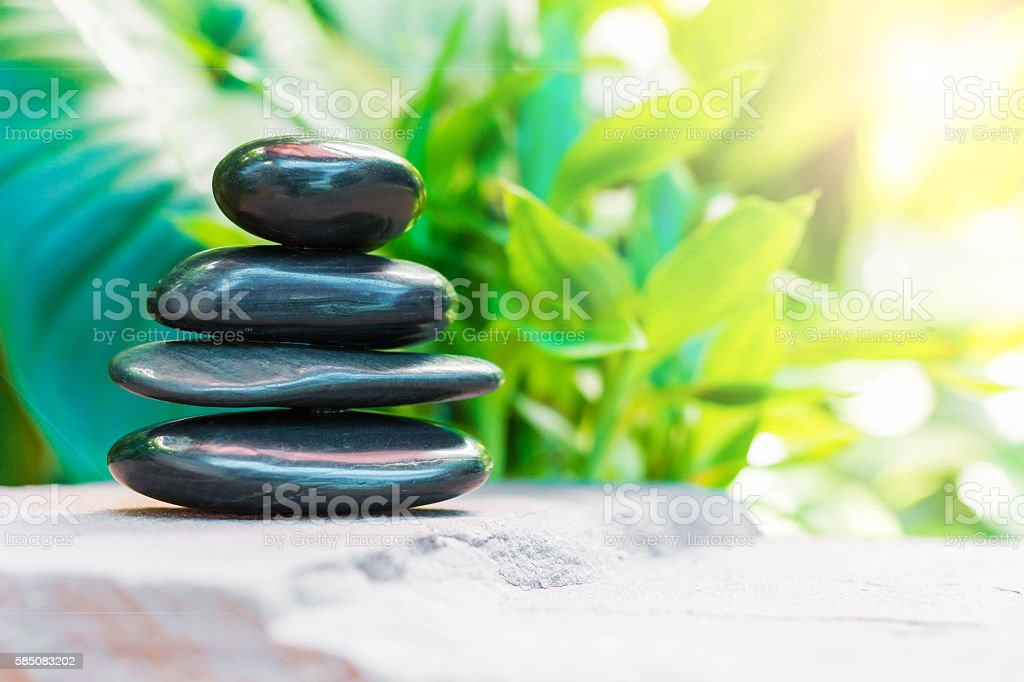 spa concept with zen stones stock photo