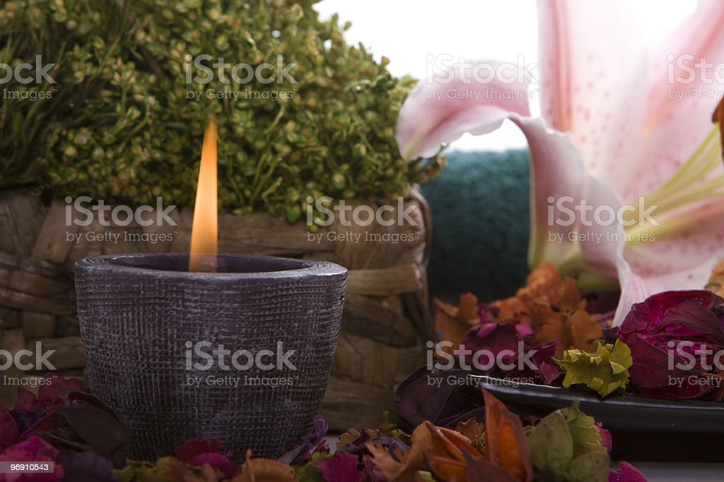 Spa decor royalty-free stock photo