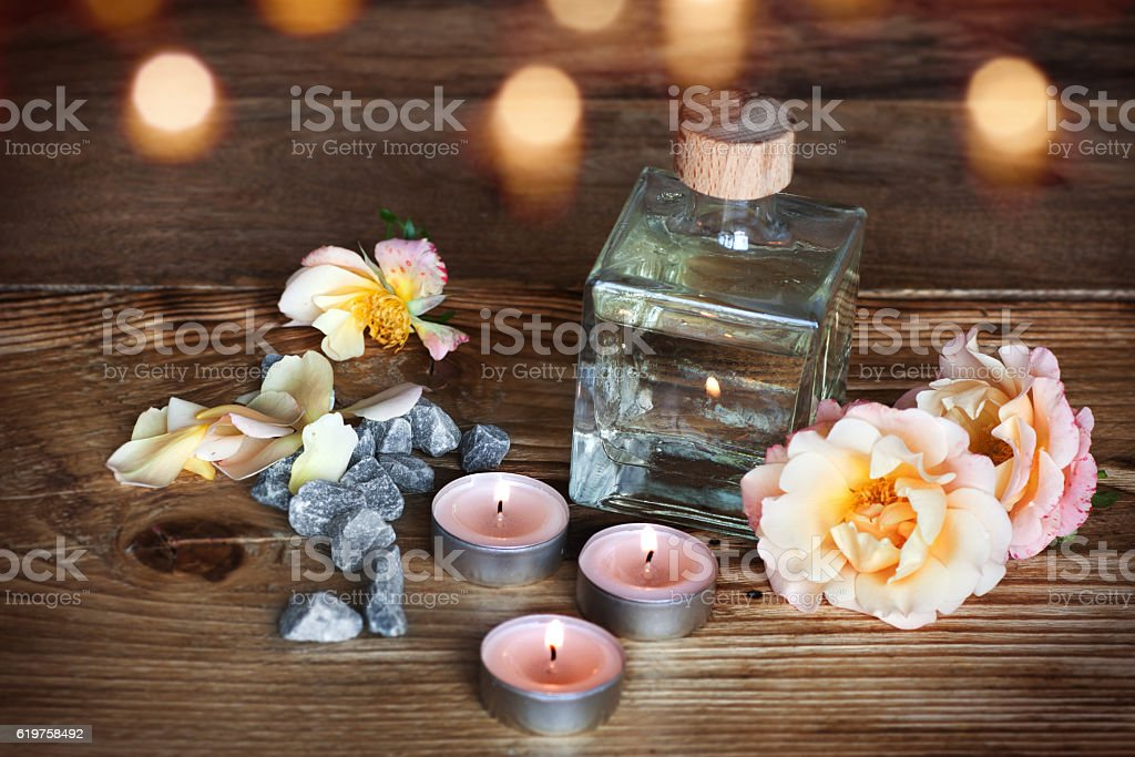 Spa decoration for wellness stock photo