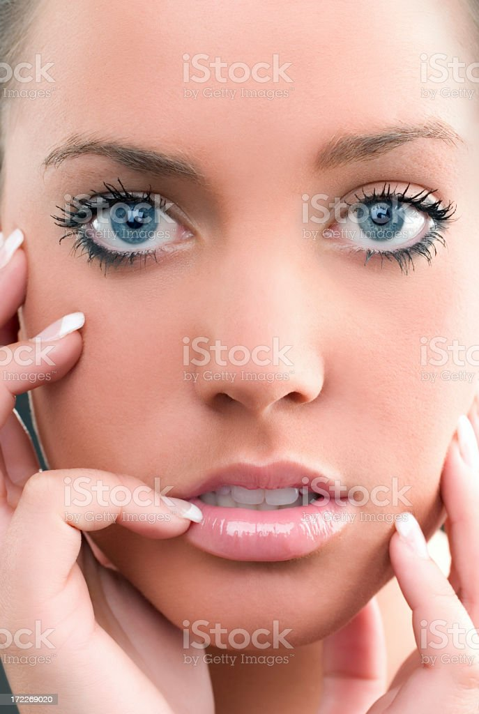Spa Face and Eyes royalty-free stock photo
