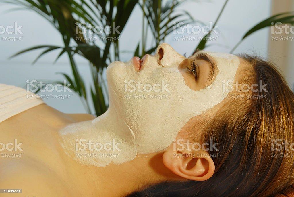 Spa Facial Mask royalty-free stock photo